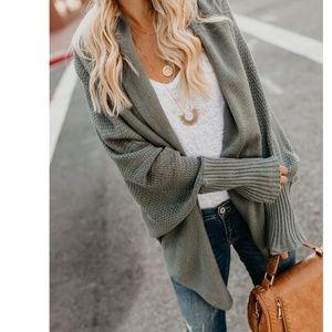 ASTRISA Dolman Sleeve Knit Cardigan